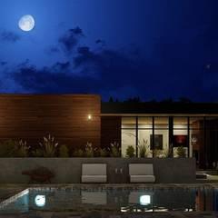 Casa de Campo -- La Rosa --: Casas de campo de estilo  por Quiroz / Diaz arquitectos