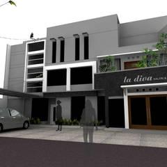 facade design:  Rumah by daun architect