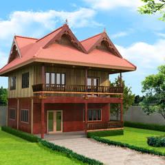Wooden houses by บริษัท พี นัมเบอร์วัน ดีไซน์ แอนด์ คอนสตรัคชั่น จำกัด