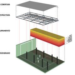GIMNASIO PACIFICO SUR: Bares y Clubs de estilo  por NIKOLAS BRICEÑO arquitecto
