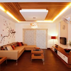 Living room by Nxt Dream Interiors
