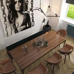 Pebbledesign / Çakıltașları Mimarlık Tasarım – Akün Residence:  tarz Yemek Odası
