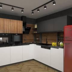 Pebbledesign / Çakıltașları Mimarlık Tasarım – Akün Residence:  tarz Ankastre mutfaklar