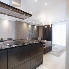 Mieszkanie minimalisty: styl , w kategorii Kuchnia zaprojektowany przez Lew Architekci & Archideck