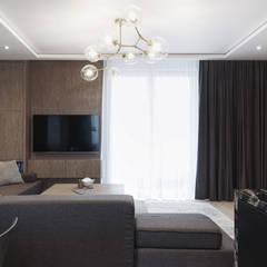 Mieszkanie minimalisty: styl , w kategorii Salon zaprojektowany przez Lew Architekci & Archideck