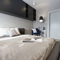 Mieszkanie minimalisty: styl , w kategorii Sypialnia zaprojektowany przez Lew Architekci & Archideck
