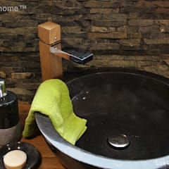 countertop black stone sink:  Bathroom by Lux4home™ Indonesia