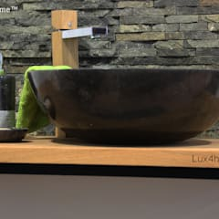 countertop black stone washbasin:  Bathroom by Lux4home™ Indonesia