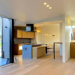 松戸の家(FLAT HOUSE): 大畠稜司建築設計事務所が手掛けたキッチンです。