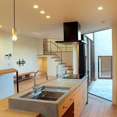 松戸の家(FLAT HOUSE): 大畠稜司建築設計事務所が手掛けたキッチン収納です。