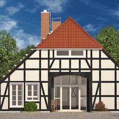 Eingangsbereich - frontale Ansicht:  Häuser von existo anima