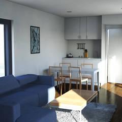 Bungalow T0 – 36m² - Interior - 1: Bungalows  por goodmood - Soluções de Habitação