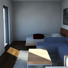 Bungalow T0 – 36m² - Interior - 2: Bungalows  por goodmood - Soluções de Habitação
