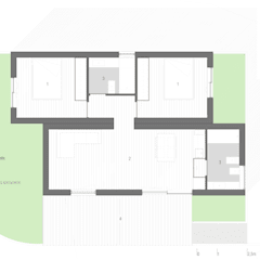 Bungalow T0 – 36m² - Planta: Bungalows  por goodmood - Soluções de Habitação