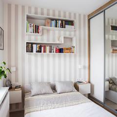 Miejska Ostoja : styl , w kategorii Sypialnia zaprojektowany przez Perfect Space