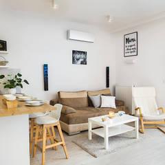 Miejska Ostoja : styl , w kategorii Salon zaprojektowany przez Perfect Space