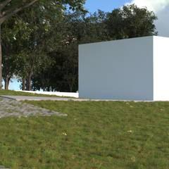 Habitação Unifamiliar, Mafra - Exterior 2: Garagens e arrecadações  por goodmood - Soluções de Habitação