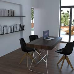 Habitação Unifamiliar, Setúbal - Interior - Escritório: Escritórios e Espaços de trabalho  por goodmood - Soluções de Habitação