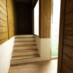 Habitação Unifamiliar, Tomar - Interior 2: Escadas  por goodmood - Soluções de Habitação