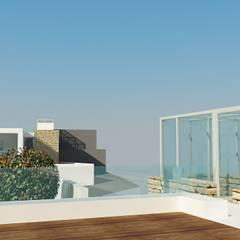 Projecto de duas Habitações Unifamiliares, Tomar - Exterior - 7: Terraços  por goodmood - Soluções de Habitação