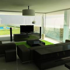Projecto de duas Habitações Unifamiliares, Tomar - Interior - 1: Salas de estar  por goodmood - Soluções de Habitação