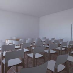 Projecto Turístico, Grândola - Interior - Sala de Conferências: Salas multimédia  por goodmood - Soluções de Habitação
