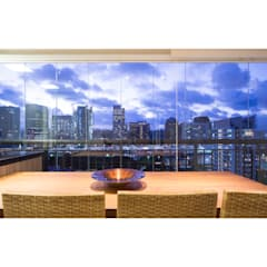 Varanda de apartamento: Terraços  por C2HA Arquitetos