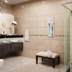 BAÑO : Baños de estilo  por KORBA Arquitectos