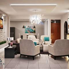 SALA : Salas de estilo  por KORBA Arquitectos