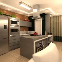 Cozinha prática: Cozinhas embutidas  por Revisite