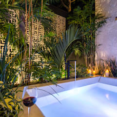 Villa Lagú 18 Tulum: Baños de estilo  por Obed Clemente Arquitectos