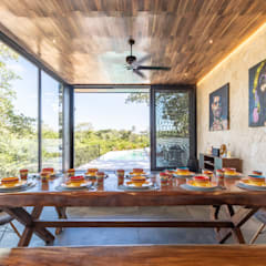 Dining room by Obed Clemente Arquitectos