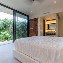 Small bedroom by Obed Clemente Arquitectos, Tropical Concrete