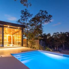 Buitenzwembad door Obed Clemente Arquitectos