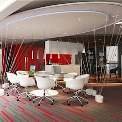 Collaborative area:  Office buildings by Norm designhaus