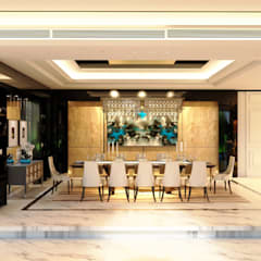 Luxury Bungalow:  Dining room by Norm designhaus