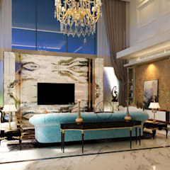 Luxury Bungalow:  Living room by Norm designhaus