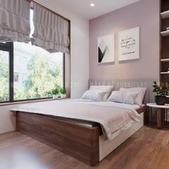 phòng ngủ nhỏ cho con trai:  Phòng ngủ nhỏ by Công ty TNHH Nội Thất Mạnh Hệ