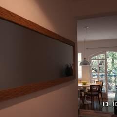 Reforma de apartamento - Grajau: Salas de estar  por MSR Arquitetura