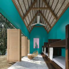 Hostal La Guaya Tulum: Recámaras de estilo  por Obed Clemente Arquitectos
