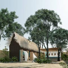 Hostal La Guaya Tulum: Casas de madera de estilo  por Obed Clemente Arquitectos