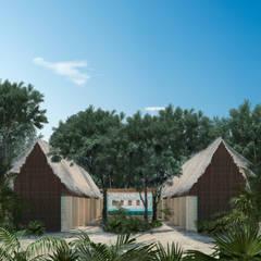 Cabañas de estilo  por Obed Clemente Arquitectos