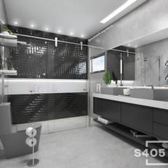 Banheiro do casal: Banheiros  por STUDIO 405 - ARQUITETURA & INTERIORES