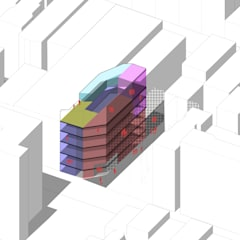 Primera Propuesta de Organización interior. : Pisos de estilo  por Fabrizio Romero Carvajal