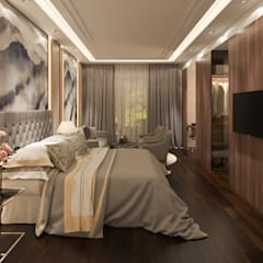 Resort Style at Kew Crescent :  Bedroom by Singapore Carpentry Interior Design Pte Ltd