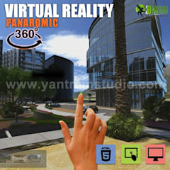 360° Virtual Reality Interactive Panoramic Video Developed by Yantram Real Estate VR App, Chicago - USA:  Prefabricated home by Yantram Architectural Design Studio
