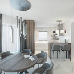 Nowoczesny dom: styl , w kategorii Jadalnia zaprojektowany przez Lew Architekci & Archideck