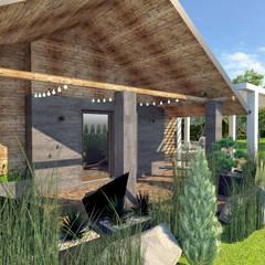 Nowoczesny taras - koncepcja: styl , w kategorii Taras zaprojektowany przez Lew Architekci & Archideck