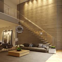 Modern walls & floors by Gelker Ribeiro Arquitetura | Arquiteto Rio de Janeiro Modern Concrete