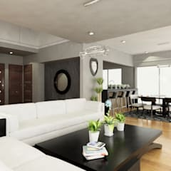 Residencia en Tijuana: Salas de estilo  por OLLIN ARQUITECTURA ,